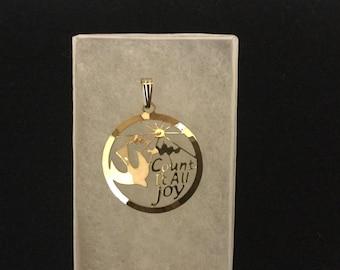cross, dove pendant, holy spirit, footprints, pendant, Christian necklace, scripture jewelry, witnessing
