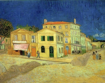 Vincent Van Gogh: The Street, the Yellow House. Fine Art Print/Poster. (001773)