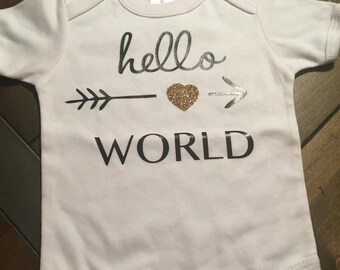 Hello World Baby Onsie