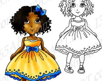 50% OFF African American Clipart, Black girl Clip art, Black American, Digital Stamp, Cute Black Girl, Natural Hair, Anime, PNG, Commercial
