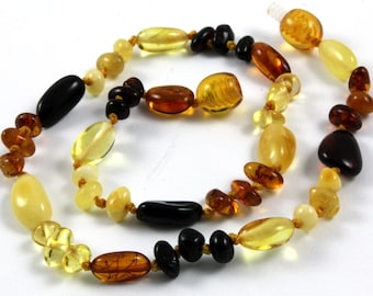 NATURAL BALTIC AMBER Baby Teething Premium Quality Necklace