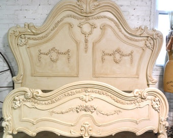 Painted Cottage Shabby Chic Romantic Angel Queen / King  Bed