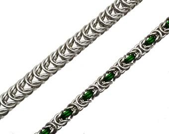 Chainmaille Kit: Box & Byzantine - Double Bracelet Kit - Aluminum - Beginner - Instructions sold separately