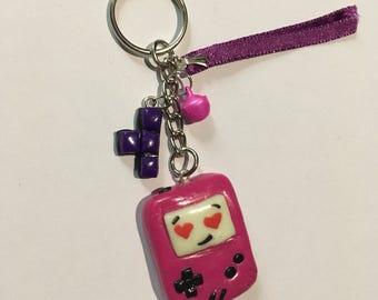Gameboy Keychain pink