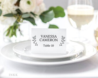 Place Card Template, Wedding Place Cards Printable, Flat or Folded Tent Place Cards Wedding, Place cards for Wedding Editable PDF #E026