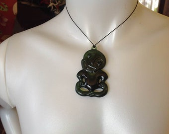 "Maori Hei- Tiki.. Measures 2.5"". Perfect For Both Male And Female"