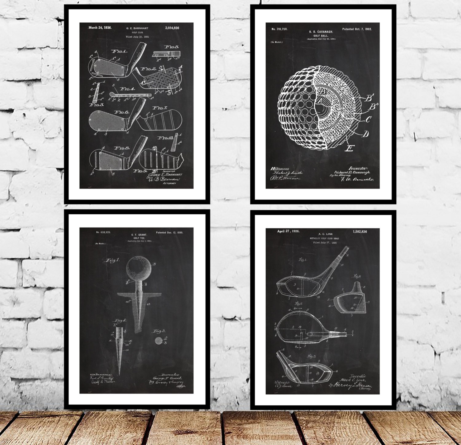 Golf ball patent golf club poster golf club art golfing decor golf ball patent golf club poster golf club art golfing decor golf tee patent golfing wall art golf blueprint golfing patent gifts malvernweather Image collections