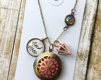 20% OFF Good Vibes Diffuser Necklace - Silver or Brass