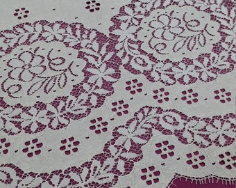 Ecru lace fabric by the yard, French Lace, Embroidered lace, Wedding Lace Bridal lace White Lace Veil lace Lingerie Lace Alencon Lace L59341