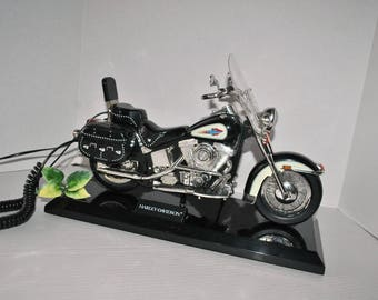 Harley Davidson Heritage Motorcycle Novelty Working Telephone Softail Model