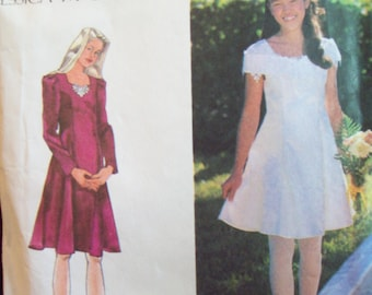 Girl's Princess Seam Dress Jessica McClintock Simplicity Pattern 9654 Sizes 12, 14