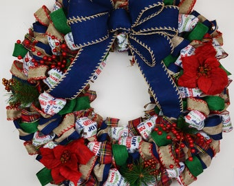 Homemade Rustic Holiday Wreath