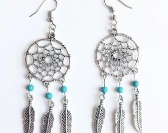 Boho Dreamcatcher earrings