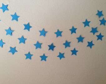 Blue Star Garland/Banner, Party Garland, Party Banner, Wedding Garland, Patriotic Garland, Fourth of July Garland, 4th of July Stars