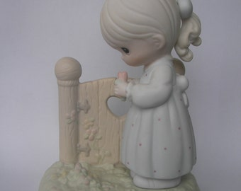"Precious Moments ""I Will Always Be Thinking of You"" Porcelain Figurine - Enesco - Vintage Collectible - Original Box and Paperwork - Retired"