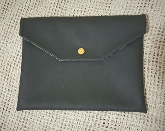 Faux Leather Envelope Clutch