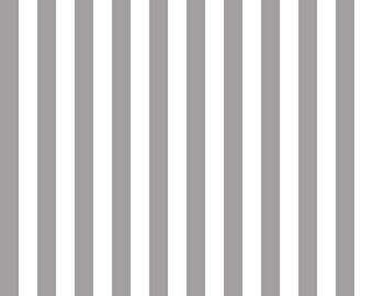 Riley Blake Designs, Half Inch Stripe in Gray (C530-40)