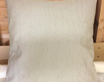 "Cream 24"" x 24"" zipped cushion cover"