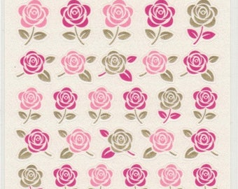 Rose Stickers - Paper Stickers - Japanese Stickers - Reference A3962