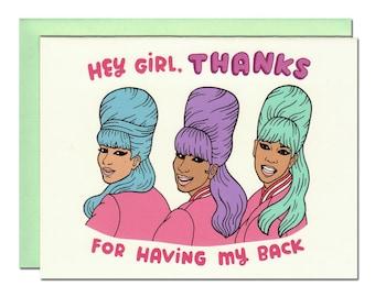 Hey Girl Thanks Card