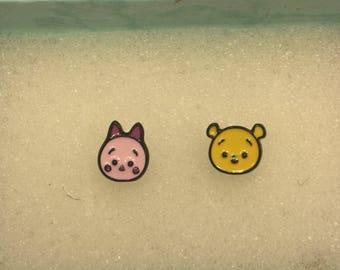 Piglet & Pooh Bear tsum tsum Earrings