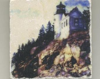 Bass Harbor Light Original Coaster