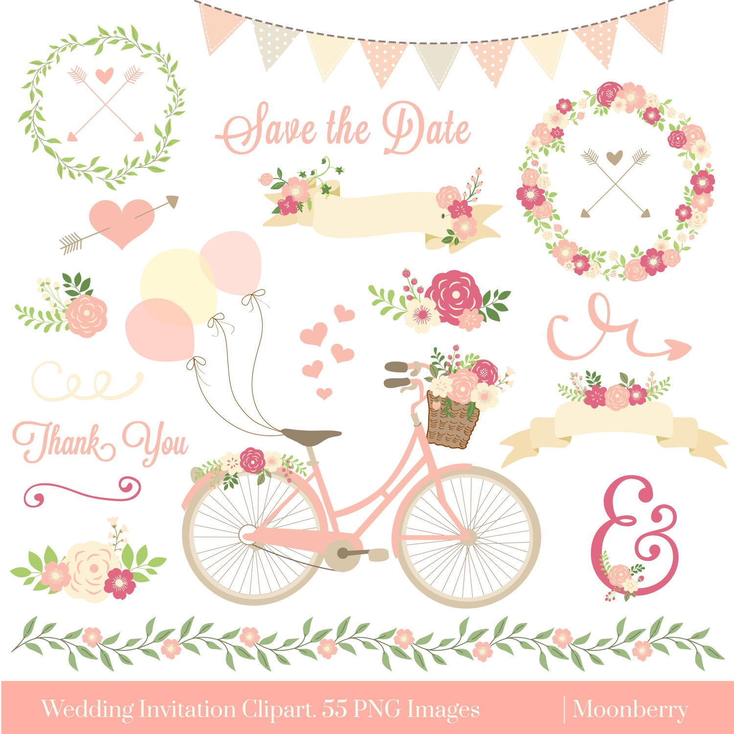 Clipart Flowers Wedding Invitation Clipart Flowers: Wedding Invitation Clipart WEDDING CLIPART Floral
