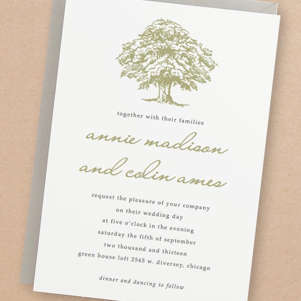 Printable Wedding Invitation Template INSTANT DOWNLOAD Oak