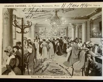 Antique French Postcard Paris: Grand Taverne Montmartre