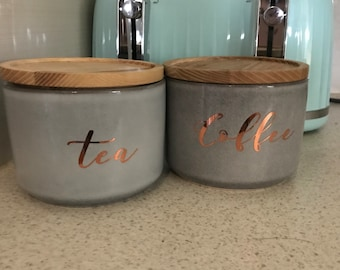 Kitchen pantry canister labels