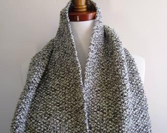 Victorian Scarf Unisex Hand Knit Ragg Wool Brown Civil War Reenactor Dickens - Size Large