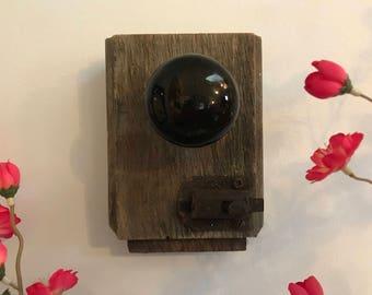 Vintage Rustic Shabby Handmade Black Door Knob Decorative Hook / Hanger