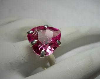 Pink Heart Sapphire Gemstone Ring