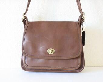 90s Vintage COACH Leather Shoulder Crossbody Bag
