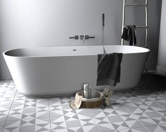 Ohio Star Pattern Tile Decal, Floor tile decal, Bathroom flooring, Kitchen Flooring, Tile Stickers, Tile Decals, PACK of 10, SKU:OSPT