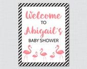 Flamingo Baby Shower Welc...