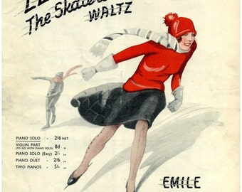 The Skaters Waltz (Les Patineurs). By  Emile Waldteufel. Sheet Music Instant Download. Cover Artwork.