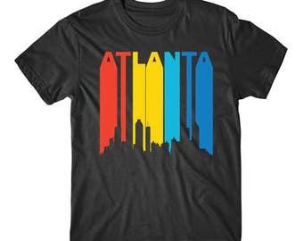 Retro 1970's Atlanta Georgia Cityscape Downtown Skyline T-Shirt