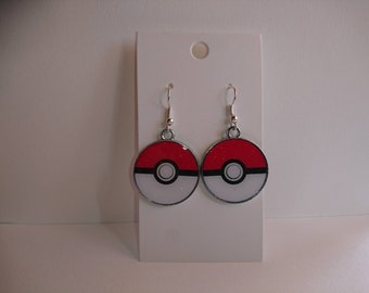 Pokemon Pokeball Drop Earrings