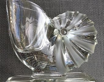 Vintage Glass Nautilus