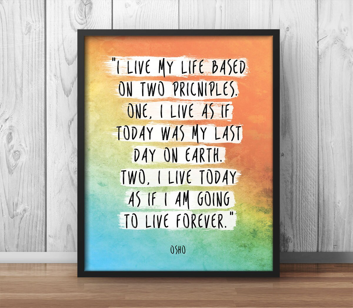 Life Quotes Posters Osho Bhagwan Rajneesh Print Poster Quote Live My Life