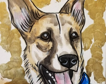8x10 Pet portrait (Canvas)