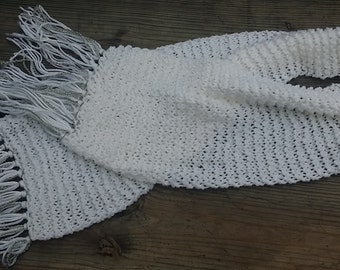 White Scarf Bling scarf  Spring scarf  knitted scarf  trendy scarf  boho scarf  gift for her Soft Scarf  (0515GM)