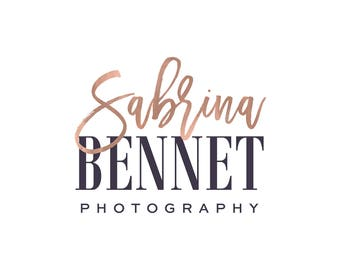 Gold Photography Logo, Premade Logo Design, Photography Watermark, Photography branding  409