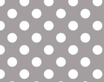 CLOSEOUT SALE Gray Medium Dot by Riley Blake 1 Yard