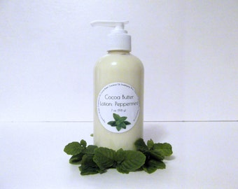 Peppermint Scented Cocoa Butter Lotion