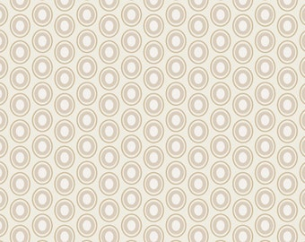Oval Elements in French Vanilla - 1/2 Yard - Art Gallery Fabric