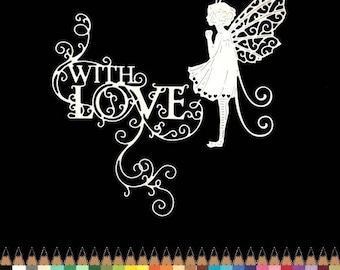 Cuts scrapbooking scrap fairy princess bee cut out paper embellishment die cut creation