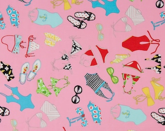 Alexander Henry OOP Fabric - Fashionista Collection - In the Swim 6563 in Pink - One Yard