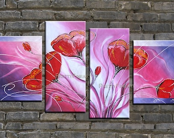 original oil painting,flowers painting,modern canvas painting for home decor,framed,ready to hang,huge 140x80cm